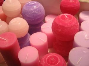kolorowe świece