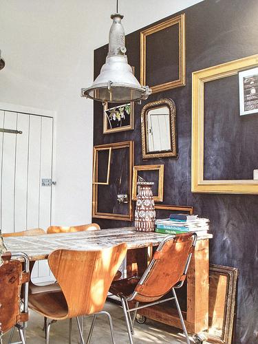 farba tablicowa na ścianie, jak malować